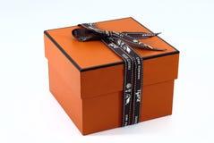 Boîte de luxe de présent de maison de Hermes Image libre de droits