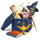 Boîte de magie de vecteur Photographie stock