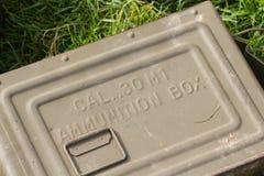 Boîte de munitions Image stock