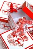 Boîte de Noël Images libres de droits