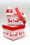 Boîte de Noël Images stock
