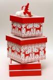 Boîte de Noël Photo libre de droits