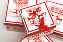 Boîte de Noël Photographie stock libre de droits