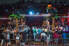 Boîte de nuit de Cancun pendant la coupure de ressort Photos libres de droits