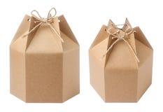 boîte de papier brune Images stock