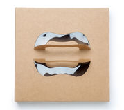 boîte de papier brune Photographie stock libre de droits