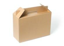 boîte de papier brune Images libres de droits