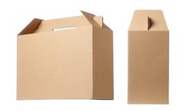 boîte de papier brune Photographie stock