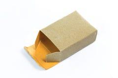 Boîte de papier de carton Photo libre de droits
