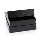 Boîte de papier noire d'isolement sur le blanc photo libre de droits