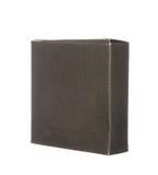 Boîte de papier noire d'isolement sur le blanc Photos libres de droits