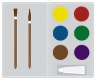 Boîte de peintures Photographie stock libre de droits