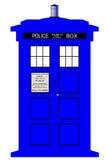 Boîte de police britannique illustration libre de droits