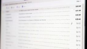 Boîte de réception d'email clips vidéos
