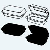 Boîte de repas de mousse illustration stock