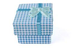 Boîte de ruban bleu Photos libres de droits