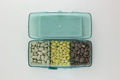 Boîte de suppléments de vitamine Photo libre de droits