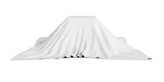 Boîte de surprise couverte de tissu blanc Images stock