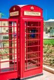 Boîte de téléphone dans Victoria à Malte Photo stock