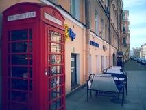 Boîte de téléphone de l'anglais photographie stock libre de droits