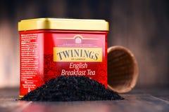 Boîte de thé de Twinings Photographie stock libre de droits