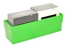 Boîte de transparents de glissière Photo libre de droits