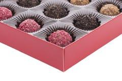Boîte de truffe de chocolat Photographie stock libre de droits