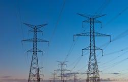 Boîte de vitesses électrique (pylônes de l'électricité) Photos libres de droits