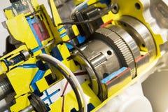 boîte de vitesses ouverte de moteur électrique Images stock