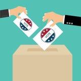 Boîte de vote de jour d'élection présidentielle Américain Flag& x27 ; s Ele symbolique Illustration Libre de Droits