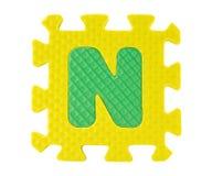 Boîte denteuse avec l'alphabet Image libre de droits