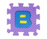 Boîte denteuse avec l'alphabet Images libres de droits