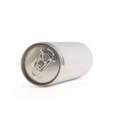 Boîte en aluminium blanche photo stock