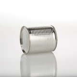 Boîte en aluminium de nourriture Image stock