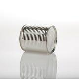 Boîte en aluminium de nourriture Images stock