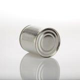 Boîte en aluminium de nourriture Photos stock