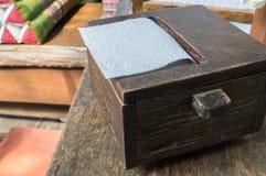 Boîte en bois photo stock