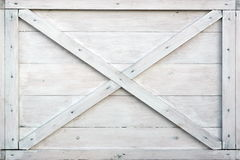 Boîte en bois blanche moderne Front Side Background Images stock