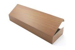 Boîte en bois brillante de stylo Image libre de droits