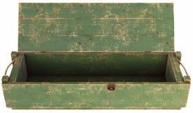 Boîte en bois d'isolement sur le fond blanc Photographie stock