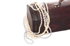 Boîte en bois de bijoux Photo libre de droits
