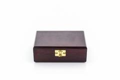 Boîte en bois de brun foncé Images stock