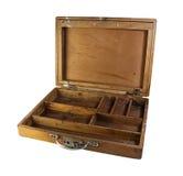Boîte en bois de compartiment Photos libres de droits