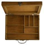 Boîte en bois de compartiment Photo stock