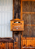 Boîte en bois de poteau Photos stock