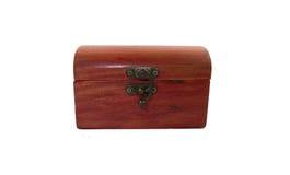 Boîte en bois de trésor image stock