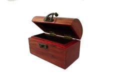 Boîte en bois de trésor photographie stock