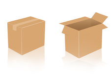 Boîte en carton Photos libres de droits