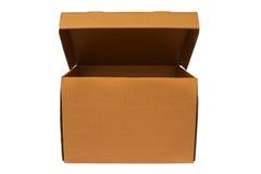 Boîte en carton blanc Images libres de droits