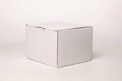 Boîte en carton blanche Images libres de droits